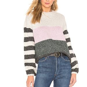tularosa penny sweater in dark green stripe